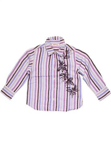 Chemise manches longues garçon KENZO blanc 4 ans hiver #1033181_1