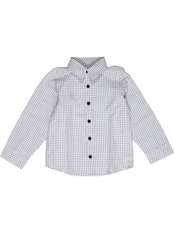 Chemise manches longues garçon GRAIN DE BLÉ blanc 2 ans hiver #1054791_1