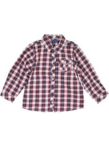 Chemise manches longues garçon GRAIN DE BLÉ gris 2 ans hiver #1079808_1