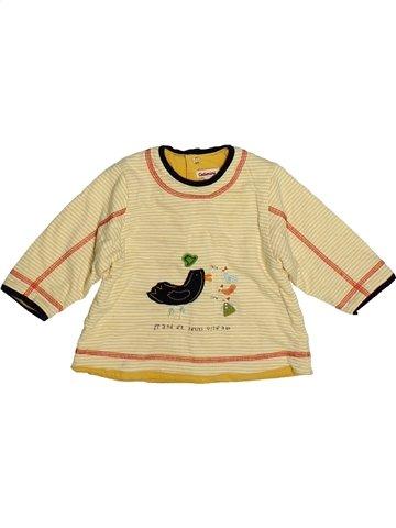 T-shirt manches longues garçon CATIMINI beige 6 mois hiver #1080901_1