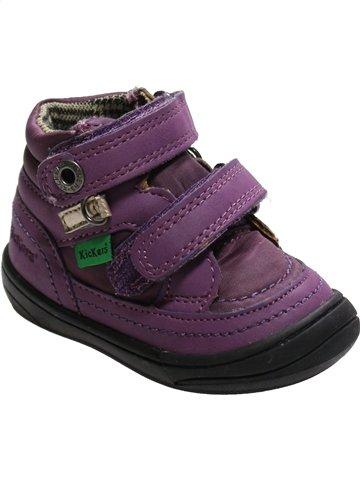 Chaussures à scratch fille KICKERS marron 18 hiver #1095236_1