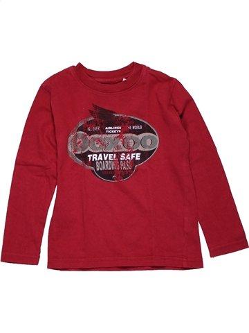 T-shirt manches longues garçon OOXOO rouge 4 ans hiver #1096316_1