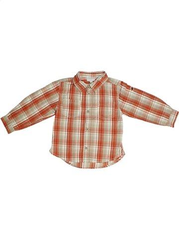 Chemise manches longues garçon KIMBALOO beige 2 ans hiver #1106851_1