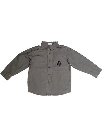 Chemise manches longues garçon ALPHABET gris 4 ans hiver #1118267_1