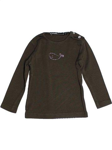 T-shirt manches longues fille LE PHARE DE LA BALEINE marron 2 ans hiver #1120829_1
