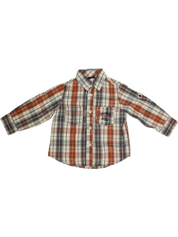Chemise manches longues garçon SERGENT MAJOR marron 3 ans hiver #1134032_1