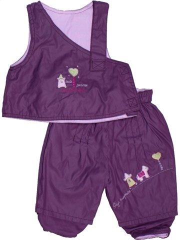 Ensemble fille 3 POMMES violet 12 mois hiver #1145774_1
