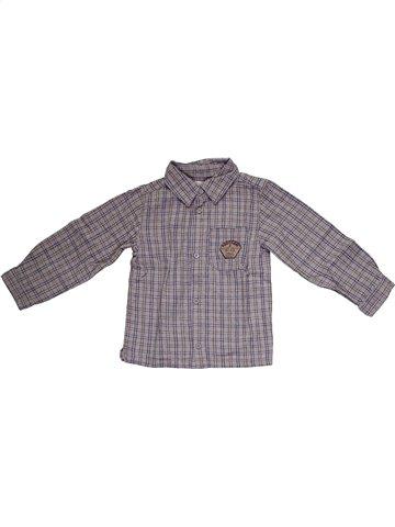Chemise manches longues garçon KIMBALOO gris 3 ans hiver #1160473_1