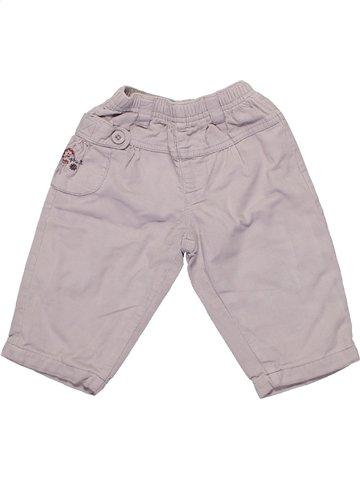 Pantalon fille ALPHABET gris 6 mois hiver #1161179_1