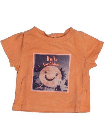 T-shirt manches courtes garçon TAPE À L'OEIL orange 3 mois été #1164818_1