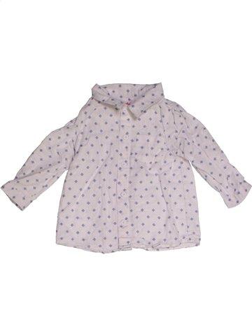 Chemise manches longues garçon DPAM blanc 9 mois hiver #1165141_1