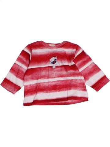 T-shirt manches longues fille 3 POMMES rose 3 mois hiver #1165207_1