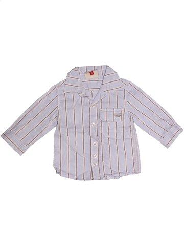 Chemise manches longues garçon CATIMINI gris 6 mois hiver #1176164_1