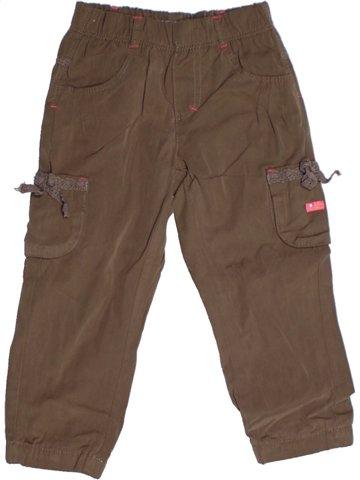 Pantalon fille CONFETTI marron 2 ans hiver #1178309_1