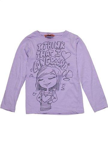 T-shirt manches longues garçon LONGBOARD violet 6 ans hiver #1180233_1