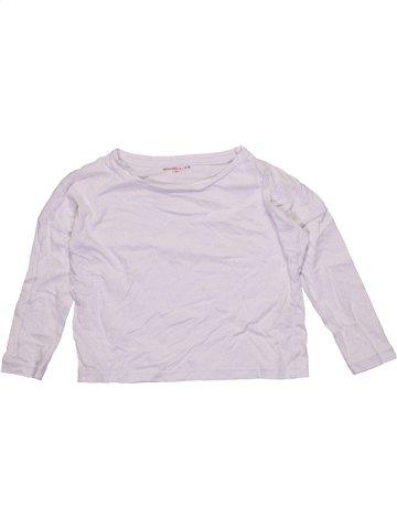 Camiseta de manga larga niña MONOPRIX blanco 4 años invierno #1184438_1
