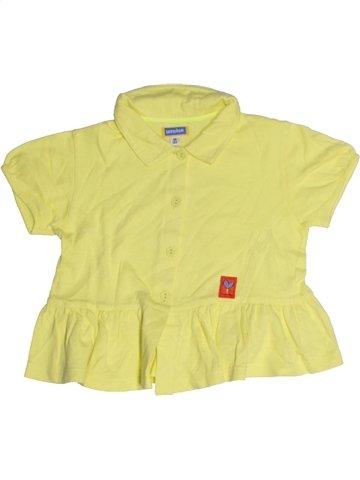 Blusa de manga corta niña MARÈSE amarillo 4 años verano #1189413_1
