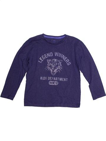 T-shirt manches longues garçon CFK bleu 8 ans hiver #1189717_1