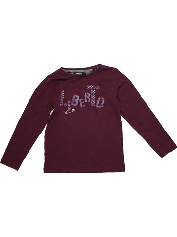 T-shirt manches longues fille LIBERTO marron 5 ans hiver #1189812_1
