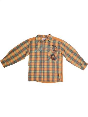 Chemise manches longues garçon SNOOPY marron 6 ans hiver #1190571_1
