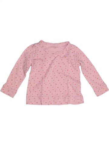 T-shirt manches longues fille MONOPRIX rose 3 ans hiver #1193686_1