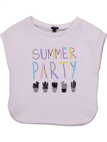 Sudadera niña KIABI blanco 5 años verano #1194061_1