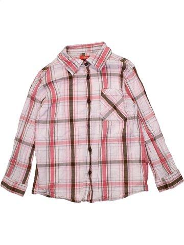 Chemise manches longues garçon TISSAIA rose 10 ans hiver #1195057_1