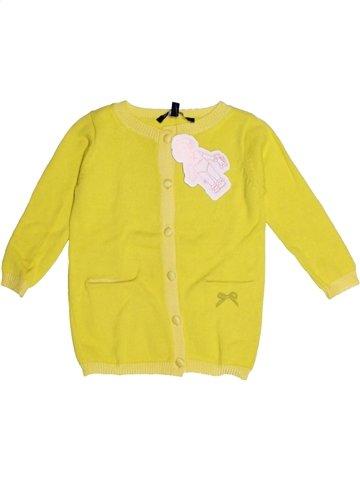 Gilet fille LILI GAUFRETTE jaune 2 ans hiver #1196091_1