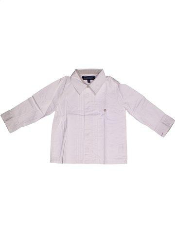 Chemise manches longues garçon JEAN BOURGET blanc 2 ans hiver #1197841_1