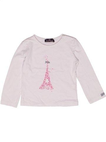 T-shirt manches longues fille FLORIANE blanc 2 ans hiver #1205316_1