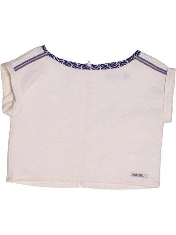 Camiseta de manga corta niña JEAN BOURGET blanco 8 años verano #1208977_1