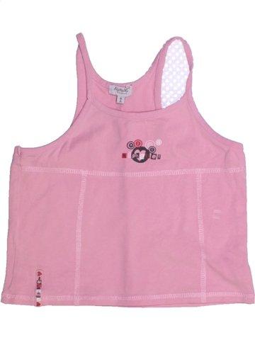 T-shirt sans manches fille ALPHABET rose 8 ans été #1210977_1
