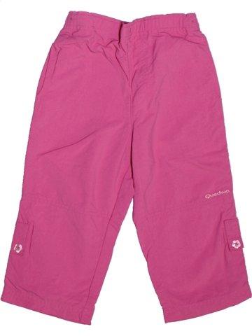 Pantalon fille QUECHUA rose 2 ans été #1211041_1