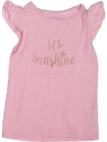 T-shirt manches courtes fille KID'S GRAFFITI rose 6 ans été #1214131_1