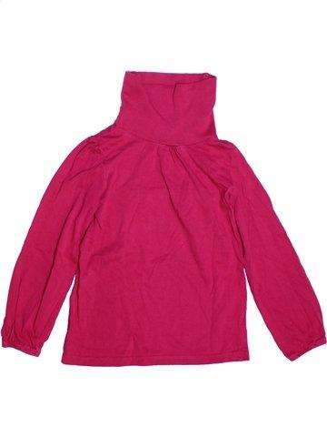 T-shirt col roulé fille 3 SUISSES rose 6 ans hiver #1214403_1