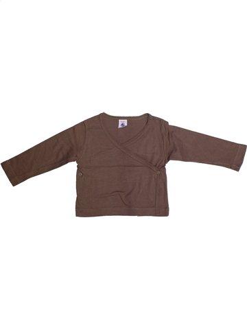 Camiseta de manga corta niña PETIT BATEAU marrón 2 años verano #1214611_1