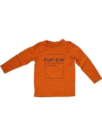 T-shirt manches longues garçon JBC orange 5 ans hiver #1214783_1