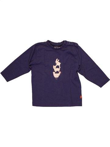 T-shirt manches longues garçon JEAN BOURGET bleu 3 ans hiver #1215589_1