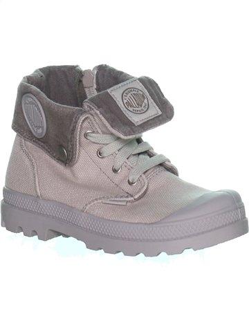 Zapatos con cordones niño PALLADIUM gris 30 verano #1215789_1