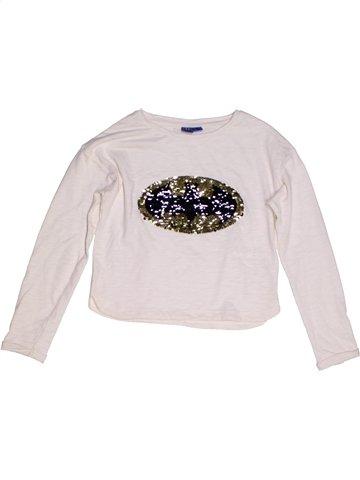 T-shirt manches longues fille SUPERS HÉROS blanc 8 ans hiver #1216523_1