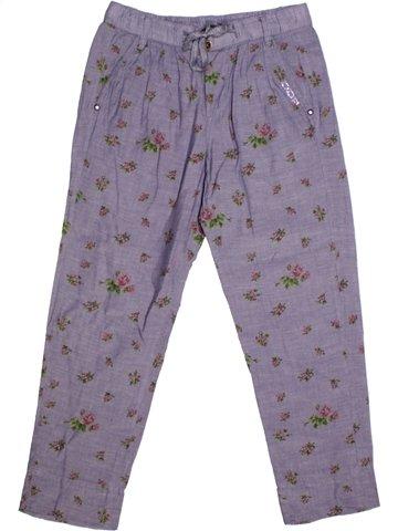 Pantalon fille DDP violet 8 ans été #1218582_1