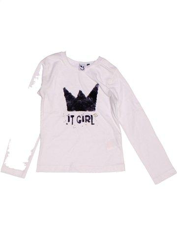 T-shirt manches longues fille 3 POMMES blanc 2 ans hiver #1220064_1