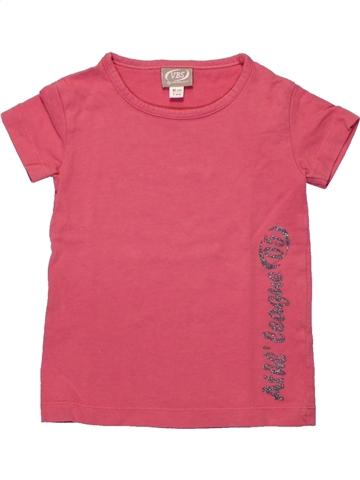 Camiseta de manga corta niña VERTBAUDET rosa 2 años verano #1222689_1