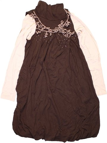 Robe fille JEAN BOURGET marron 8 ans hiver #1224668_1
