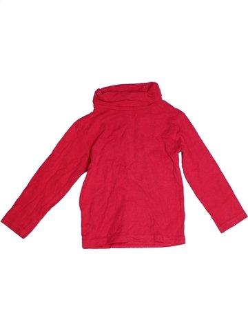 T-shirt col roulé fille GEMO rouge 3 ans hiver #1224769_1