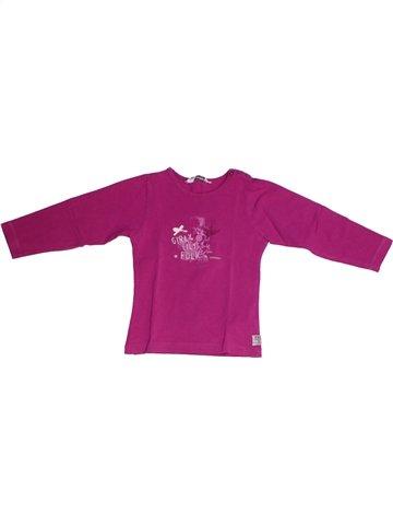 T-shirt manches longues fille 3 POMMES violet 2 ans hiver #1226427_1
