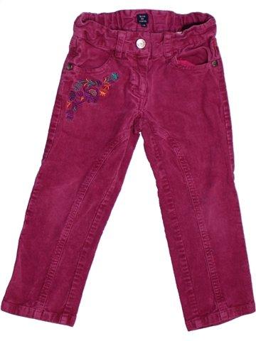 Pantalon fille TERRE DE MARINS violet 2 ans hiver #1226581_1