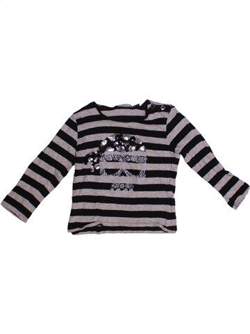 T-shirt manches longues fille LE PHARE DE LA BALEINE bleu foncé 2 ans hiver #1228799_1