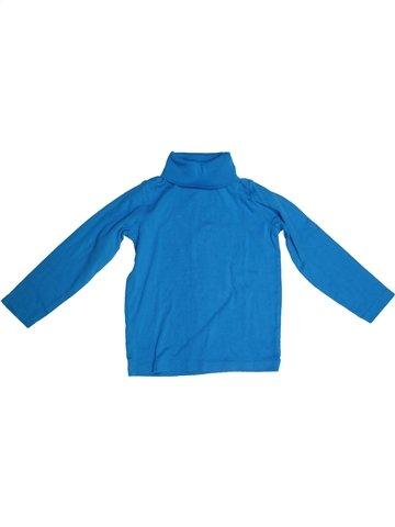 T-shirt col roulé garçon LH BY LA HALLE bleu 5 ans hiver #1229081_1