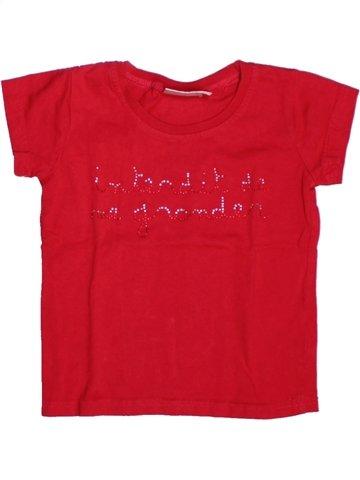 T-shirt manches courtes fille INTERDIT DE ME GRONDER rouge 2 ans été #1229213_1